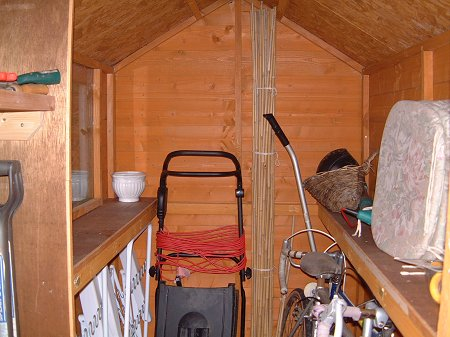 Garden Sheds Inside shelving ideas for a shed: ideas basement shed garden tool storage